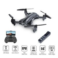 GPS drone with HD 1080P camera foldable 5G wifi FPV quadcopter HQ912 tapfly LED