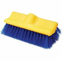 """Rubbermaid Commercial Floor Scrub Brush 10"""" Long Blue/Yellow 633700BE"""