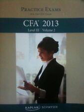 Schweser Notes 2013 CFA: Practice Exams, Level 3,