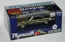 ERTL 1/18 GOLD CHROME 1970 PLYMOUTH SUPERBIRD 1 OF 500 with MOPAR TOOL BOX