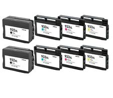 8 Pack/Pk Compatible 932XL 933XL Ink Cartridge For HP Officejet 6100 6600 6700