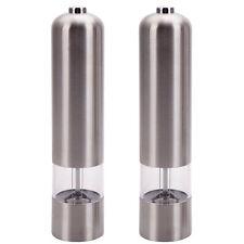 New 2 Electric Spice Salt Pepper Mill Grinder Stainless Steel Muller Bar Gadgets