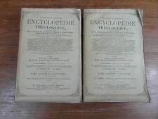 Abbé MIGNE / ENCYCLOPEDIE THEOLOGIQUE Droit Civil Eccl. 1873 Complet 2 volumes