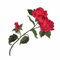 Rose Blumen Aufnäher Stickerei Applikationen Applikation Patch Flicken Patchwork