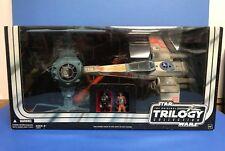 TIE Fighter & X-WING Fighter Star Wars Trilogy 2004 Hasbro with Luke Skywalker