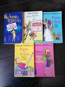 lot de 5 livres Accro du shopping - Sophie Kinsella