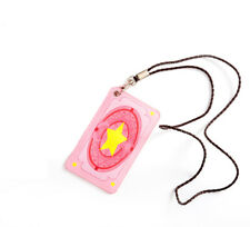 Kawaii Cardcaptor Sakura Kinmoto Bus Pass Card Holder Business Card Case Cosplay