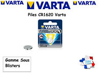 Piles bouton Varta 3V Lithium CR1620 Sous Blister, Qualité Professionnelle