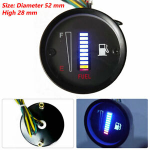 2inch 52mm 10LED Fuel Level Meter Digital Gauge Car Motorcycle High Quality
