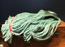 Web Foot Wet Mop Head, Shrinkless, Cotton/Synthetic, Green, Medium, NEW