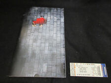 Roger Waters The Wall Live 2010 Tour Book Program w Chicago Ticket Pink Floyd