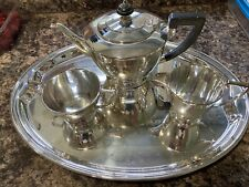 More details for mappin & webb 4 piece silver plated tea service set - princes plate - 1950s