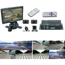 "Full Surround View HD Car Dash Camera Recorder Image Splitter DVR w/ 7"" Screen"