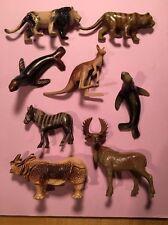 Beton plastic wild zoo circus jungle animal figures Bergen Toy Lion Tiger Seal