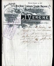 """MONDOUBLEAU (41) MACHINES à COUDRE VELOS MOTOS AUTOMOBILES """"J. VERGNE"""" en 1901"""