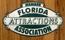 Florida Attractions Association Vintage Style FAKE Roadside Sign