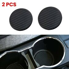 2X Car Vehicle Water Cups Slot Non-Slip Carbon Fiber Look Mat Accessories NEW