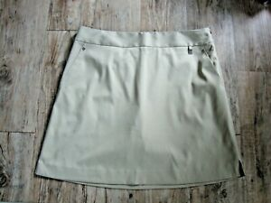 Cutter & Buck CB Drytec  Polyester Golf Skort  Size 10   3 Pockets