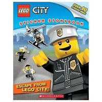 Lego City: Escape from Lego City!: Sticker Storybook by Scholastic,Wallace, Wade