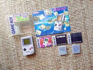 Consola Nintendo Game boy DMG Clasica Star Pack PAL España Muy buen Estado Leer