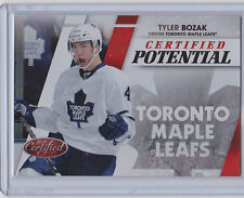 2010-11 CERTIFIED TYLER BOZAK PANINI POTENTIAL RED /250 #16 LEAFS