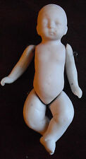 """Vintage 1950s Jointed Bisque Baby Boy Doll 4 1/4"""" Tall"""