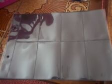 25 X 8 Pocket Plastic Sleeves Fits Glen & Other Cigarette Card Binders