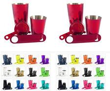 4 Piece Bartender Durable Powder Coated Bar Set - 2 Shakers, Strainer & Opener