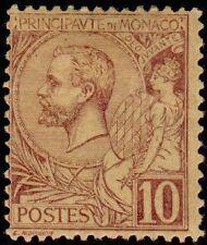 "MONACO N° 14 ""ALBERT 1er  10 C LILAS-BRUN SUR JAUNE"" NEUF XX TTB"