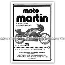 PUB MARTIN Kawasaki 750 - Original Advert / Publicité Moto 1983