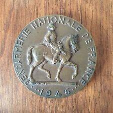 MEDAILLE EN BRONZE - GENDARMERIE NATIONALE DE FRANCE - 1946