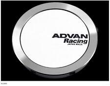 YOKOHAMA ADVAN Racing Center Cap FULL FLAT (φ73 white anodized) from JAPAN