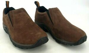 Merrell Jungle Moc Leather Slip-On Shoes Loafer 9 Nubuck Brown J60831