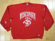 Wasted! 80s vtg Bucky Badger university of Wisconsin Sweat Shirt large
