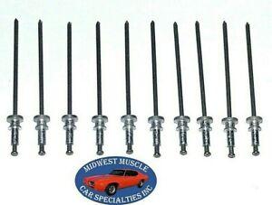 GM GMC Chevy Window Trim Clip Molding Spot Weld Pin Stud Rivet In Studs 10pcs LO