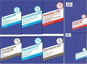 Avery Zweckform Kassenbuch Kassenbericht Kasse 305 317 318 426 427 428 1756 1758