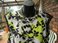 PORTMANS cropped sleeveless floral top/blouse - zipper - sz.10/S#SundayMarket