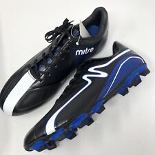 MITRE Men's 9.5 Velocity Soccer Cleats Strike Grip Blue Black White New