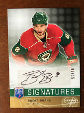 2008-09 Be A Player Autograph Brent Burns PLAYERS CLUB Auto 06/15 RARE