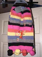 DISNEY STORE TIGGER EMBROIDERED ADULTS HAT &  SCARF SET WOOL BRAND NEW RARE