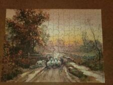 Vintage Interlox Difficult Picture Puzzle - Indian Summer - Missing 2 Pieces