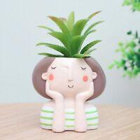 Lovely Cartoon Flowerpot Home Bonsai Planter Flower Pot Craft Desktop Container