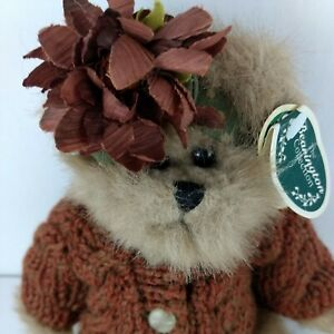 Bearington Collection Katie 1387 Collectible Series Rust Sweater Flowers NWT