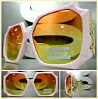 OVERSIZED EXAGGERATED VINTAGE RETRO Style SUN GLASSES Funky Pink  Gold Frame