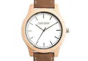 Newman Maple Wood and Suede Watch by COWAN BROWN