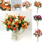 21 Head Artificial Rose Flowers Fake Flower Bouquet for Wedding Party Home Decor