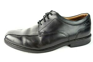 Clarks Black Leather Dress Casual Comfort Work Lace-Up Oxford Shoes Mens 8.5