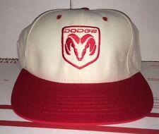 Dodge RAM White red Snapback Hat 1980s Muscle Car Chrysler Corporation Mopar vtg