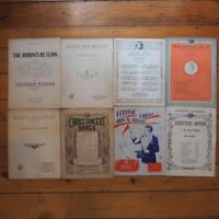 Vintage Lot of 8 Sheet Music Song Folio Piano Songbook
