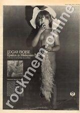 Edgar Froese Tangerine Dream Epsilon In Malaysian Pale  MM5 LP/Tour Advert 1975
